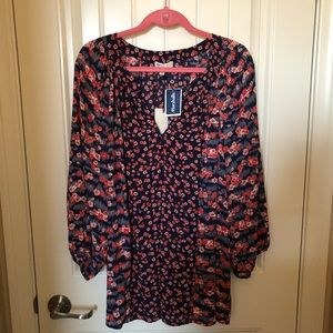 Lila Rose Navy Floral Blouse - 2XL